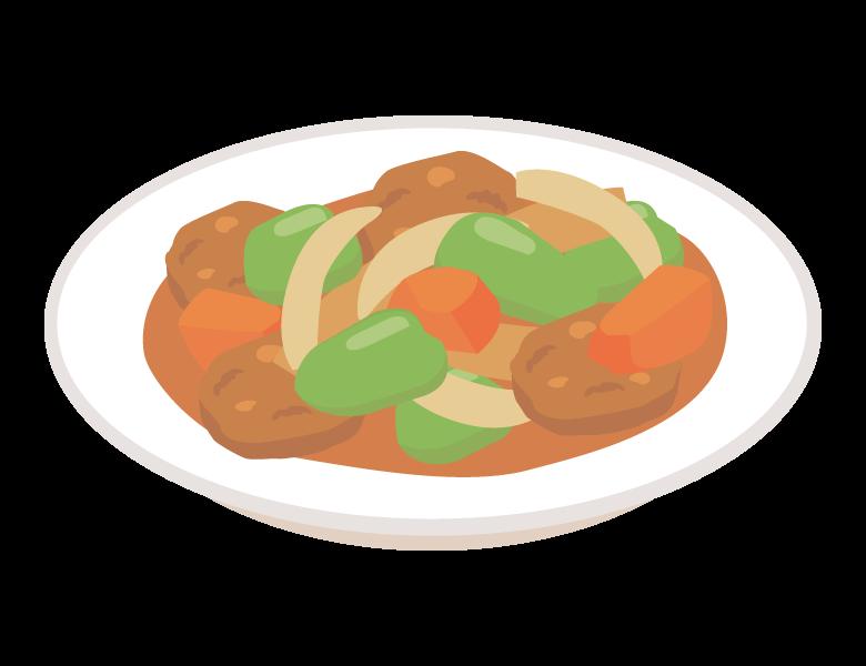 酢豚のイラスト