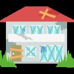 空き家/傷んでいる家のイラスト