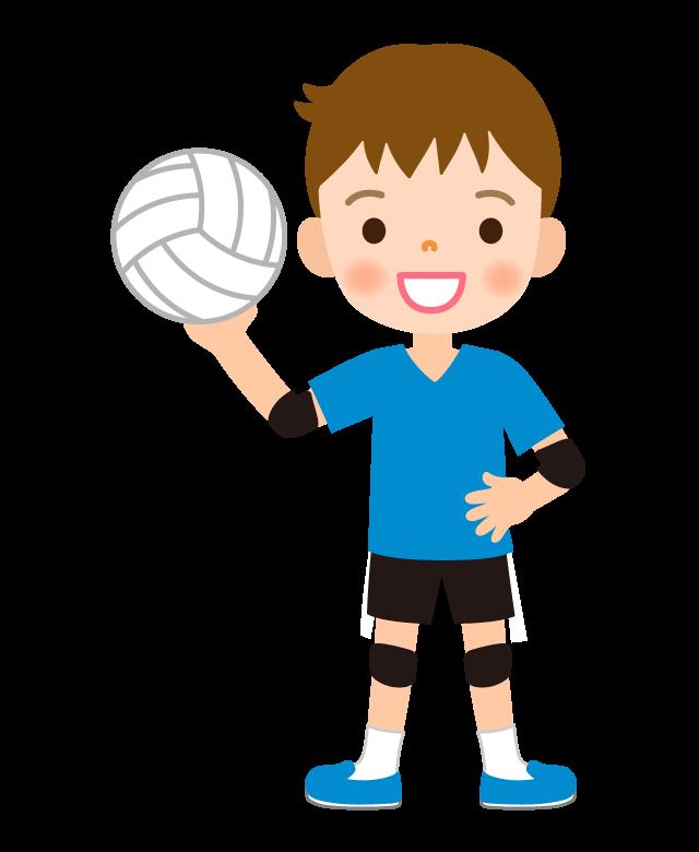 バレーボール/男の子のイラスト