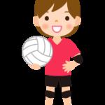 バレーボール/女の子のイラスト