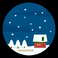 雪の降る夜/冬のイメージイラスト