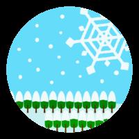雪の結晶/冬のイメージイラスト