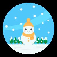 かわいい雪だるま/冬のイラスト